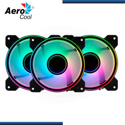 COOLER P/ CASE AEROCOOL MIRAGE 12 PRO ARGB (PACK x3) 120MM | HUB + CONTROLADOR (N/P: 4710562755978)