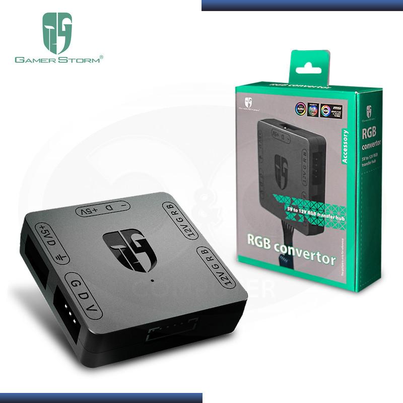 RGB CONTROLADOR CONVERTIDOR PERIFERICO GAMERSTORM BLACK (PN:DP-FRGB-CHUB5-12V)