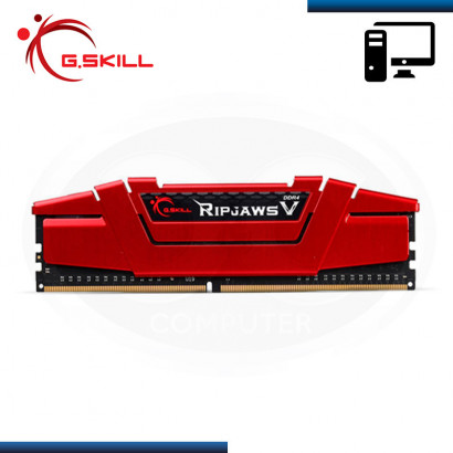 MEMORIA 8GB DDR4 G.SKILL RIP JAWS V RED BUS 2800MHz (PN:F4-2800C17S-8GVR)