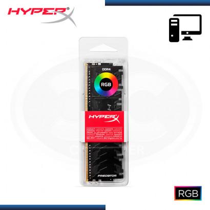 MEMORIA KINGSTON DDR4 8GB BUS 2933 MHZ HYPER X FURY BLACK RGB PREDATOR  HX429C15PB3A/8