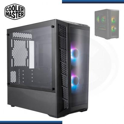 CASE COOLER MASTER MASTERBOX MB320L ARGB | S/ FUENTE | VIDRIO TEMPLADO LATERAL | M-ATX (PN: MCB-B320L-KGNN-S02 )