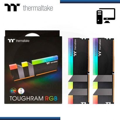 MEMORIA THERMALTAKE TOUGHRAM RGB | BLACK | 16GB (2x8GB) DDR4 3600 MHZ (PN: R009D408GX2-3600C18B )