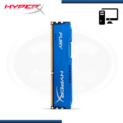 MEMORIA KINGSTON HYPERX FURY BLUE DDR3 8GB 1333MHz | CL9 (NP:HX313C9F/8)