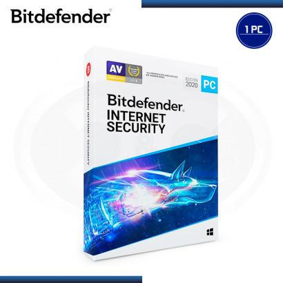 BITDEFENDER INTERNET SECURITY 2020 1 PC (PROMO 2PCS) 1 AÑO + 3 MESES (PN:B11020050)