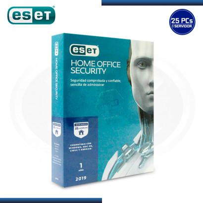 ESET HOME OFFICE SECURITY V.2019 LICENCIA 12 MESES 25 PCS + 1 SERVIDOR