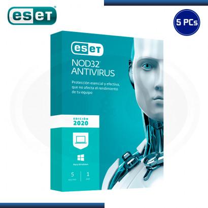 ESET NOD32 ANTIVIRUS 2020 5 PCs 12 MESES (PN:S11010174)