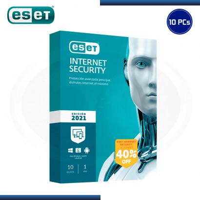 ESET INTERNET SECURITY 2021 10 PCs (PN:S11020171)