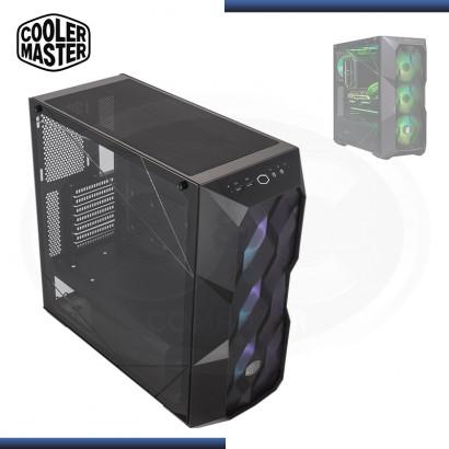 CASE COOLER MASTER MASTERBOX TD500 MESH ARGB SIN FUENTE PANEL LATERAL ACRILICO BLACK USB 3.2 (PN:MCB-D500D-KGNN-S01)