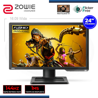 "MONITOR LED 24"" ZOWIE XL2411P-B 1920x1080 HDMI DVI-DL 1MS/144HZ"
