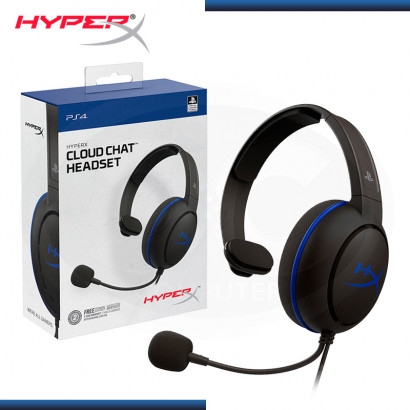 AUDIFONO HYPERX CLOUD CHAT CON MICROFONO COMPATIBLE PS4 BLACK (PN:HX-HSCCHS-BK/AM)