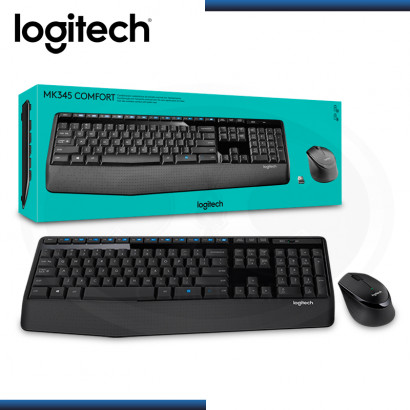 KIT LOGITECH MK345 WIRELESS COMFORT TECLADO + MOUSE USB (PN:920-007820)