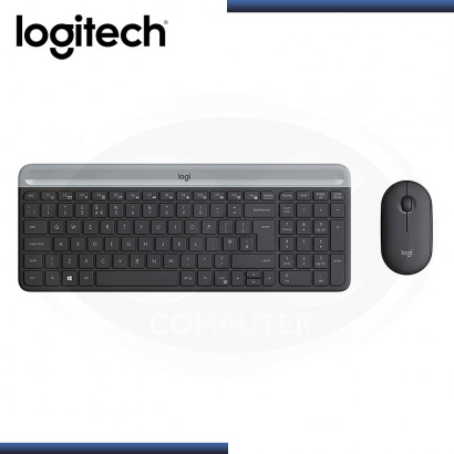 KIT LOGITECH MK470 SLIM TECLADO + MOUSE WIRELESS BLACK (PN:920-009266)