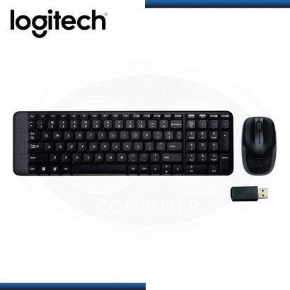 KIT LOGITECH MK220 TECLADO ESTANDAR + MOUSE OPTICO WIRELESS USB (PN:920-004430)