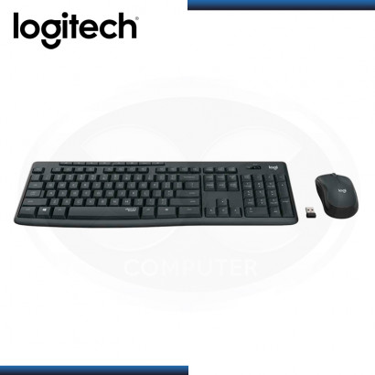 KIT LOGITECH MK295 SILENT TOUCH WIRELESS TECLADO + MOUSE USB BLACK (PN:920-009792)