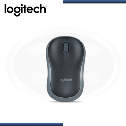 MOUSE LOGITECH M185 BLACK GRIS WIRELESS USB (PN:910-002225)