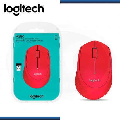 MOUSE LOGITECH M280 RED WIRELESS USB (PN:910-004286)