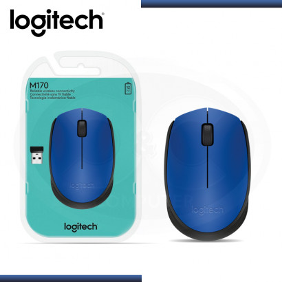 MOUSE LOGITECH M170 BLUE WIRELESS USB (PN:910-004800)
