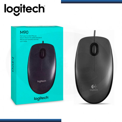 MOUSE LOGITECH M90 DARK MIDNIGHT USB BLACK (PN:910-004053)