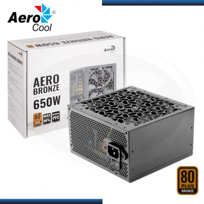 FUENTE AEROCOOL AERO BRONZE 650W 80 PLUS BRONZE (PN:4710562753981)