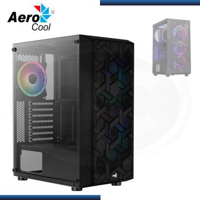 CASE AEROCOOL HIVE ARGB SIN FUENTE VIDRIO TEMPLADO USB 3.0/USB 2.0 (PN:4710562755909)