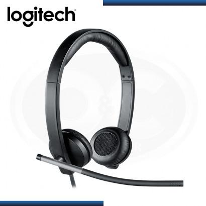 AUDIFONO LOGITECH H650E STEREO CON MICROFONO BLACK USB (PN:981-000518)