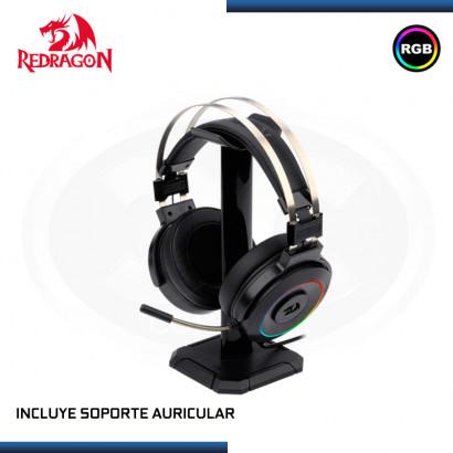 AUDIFONO REDRAGON LAMIA H320 RGB CON MICROFONO 7.1 VIRTUAL USB INCLUYE SOPORTE