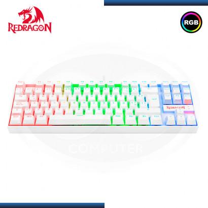 TECLADO REDRAGON KUMARA K552W-RGB ESPAÑOL WHITE MECANICO SWITCH RED RGB