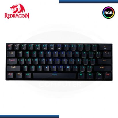 TECLADO REDRAGON DRACONIC K530-RGB BLACK MECANICO SWITCH BROWN SIN NUMERICO (PN:K530RGB)