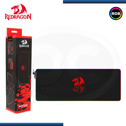 PAD MOUSE REDRAGON NEPTUNE RGB GAMING BLACK 800x300x3mm (PN:P027)