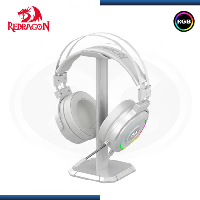 AUDIFONO REDRAGON LAMIA H320W RGB WHITE CON MICROFONO 7.1 VIRTUAL USB INCLUYE SOPORTE
