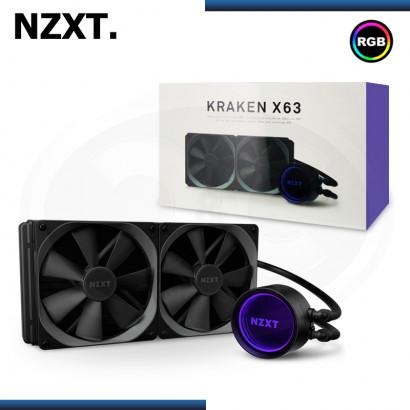 NZXT KRAKEN X63 RGB BLACK REFRIGERACION LIQUIDO AMD/INTEL (PN:RL-KRX63-01)