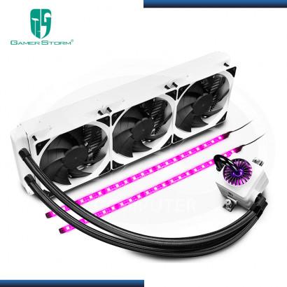 GAMER STORM CAPTAIN 360 EX WHITE RGB REFRIGERACION LIQUIDO AMD/INTEL (PN:DP-GS-H12LCT360RGB-WH)