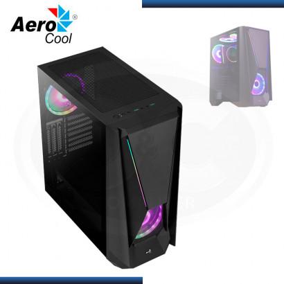CASE AEROCOOL VISOR ARGB SIN FUENTE VIDRIO TEMPLADO BLACK USB 3.0 (PN:VISOR-G-BK-V1)