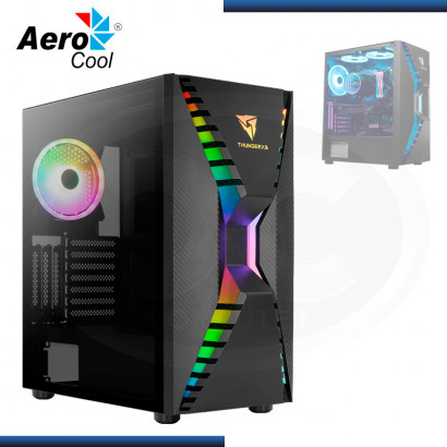 CASE AEROCOOL CRONUS ARGB SIN FUENTE VIDRIO TEMPLADO BLACK USB 3.0 (PN:CRONUS-G-BK-V1)