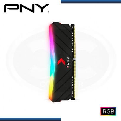 MEMORIA 8GB DDR4 PNY XLR8 EPIC-X RGB BUS 3200MHZ DDR4 BLACK (PN:MD8GD4320016XRGB)