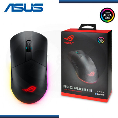 MOUSE ASUS ROG PUGIO II RGB BLUETOOTH 2.4 GHZ BLACK (PN:90MP01L0-BMUA00)