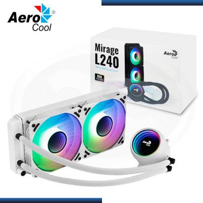 AEROCOOL MIRAGE L240 ARGB WHITE REFRIGERACION LIQUIDO AMD/INTEL (PN:4710562759150)