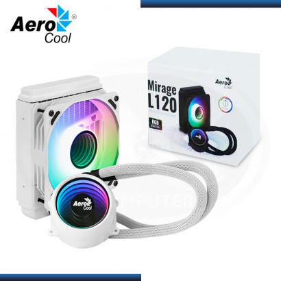 AEROCOOL MIRAGE L120 ARGB WHITE REFRIGERACION LIQUIDO AMD/INTEL (PN:4710562759143)