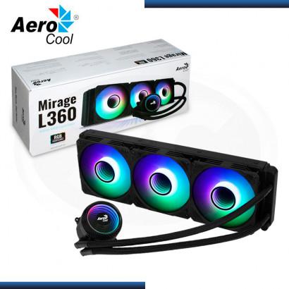 AEROCOOL MIRAGE L360 ARGB BLACK REFRIGERACION LIQUIDO AMD/INTEL (PN:4710562757958)