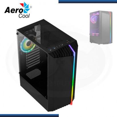 CASE AEROCOOL BIONIC G-BK-V2 SIN FUENTE VIDRIO TEMPLADO BLACK USB 3.0/USB 2.0 (PN:4710562758672)