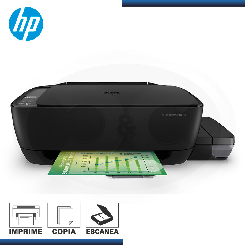 IMPRESORA HP INK TANK 415 MULTIFUNCIONAL CON SISTEMA CONTINUO WIFI (PN:Z4B53A)