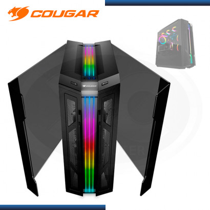 CASE COUGAR GEMINI T PRO RGB SIN FUENTE VIDRIO TEMPLADO USB 3.1/USB 3.0 (PN:106KMT0008-00)