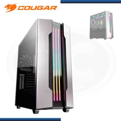 CASE COUGAR GEMINI S SILVER 2020 ARGB SIN FUENTE VIDRIO TEMPLADO USB 3.0/USB 2.0 (PN:385BMBP.0001)
