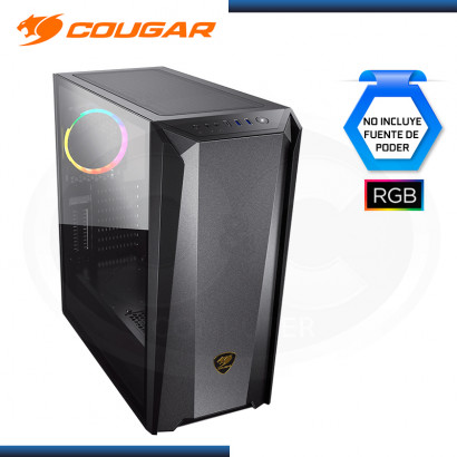CASE COUGAR MX660 IRON DARK BLACK RGB SIN FUENTE VIDRIO TEMPLADO USB 3.1/USB 3.0 (PN:385BMS0.0006)