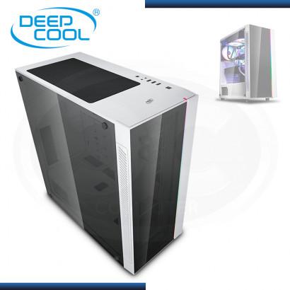 CASE DEEPCOOL MATREXX 55 V3 WHITE (TIRA LED RGB) SIN FUENTE VIDRIO TEMPLADO USB 3.0/USB 2.0 (PN:DP-ATX-MATREXX55V3-AR-WH)