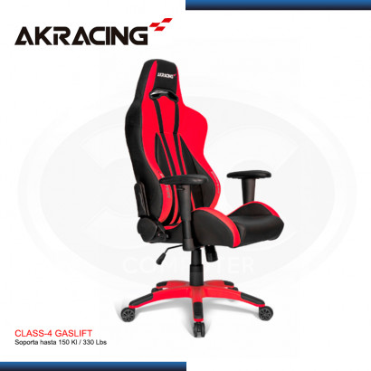 SILLA AKRACING PREMIUM PLUS RED BLACK GAMING (PN:AK-7002-RD)