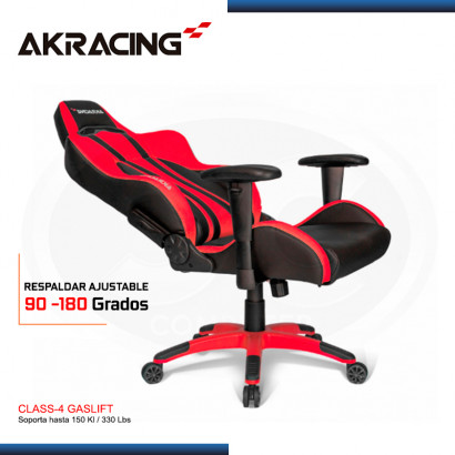 SILLA AKRACING PREMIUM PLUS RED BLACK GAMING (PN:AK-7002-RD)