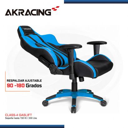 SILLA AKRACING PREMIUM PLUS BLUE BLACK GAMING (PN:AK-7002-BL)