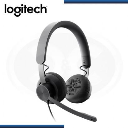 AUDIFONO LOGITECH ZONE WIRED CON MICROFONO USB-C BLACK (PN:981-000871)