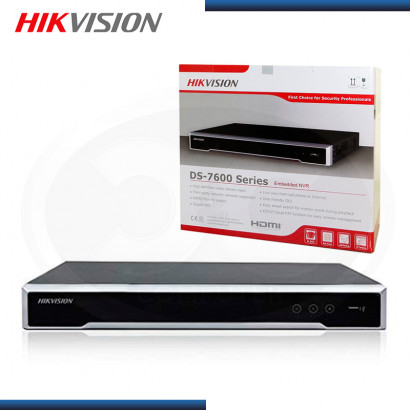 GRABADOR DS-7616NI-Q2/16P IP HIKVISION 16 CANALES CON POE 2HDD (PN:DS-7616NI-Q2/16P)